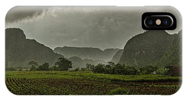Tobacco Plantation Under The Rain IPhone Case