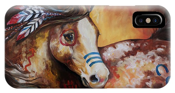 Tobiano Indian War Horse IPhone Case