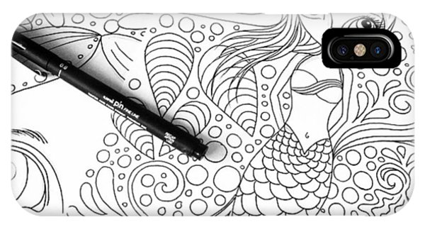 Fantasy iPhone Case - Today: Line Drawing. ✒️ by Jaz Higgins