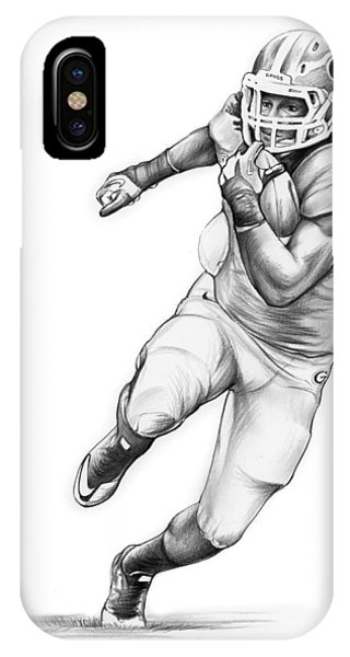 Football iPhone Case - Todd Gurley by Greg Joens