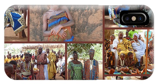 Ceremony iPhone Case - Togo Village In West Africa Collage by David Smith