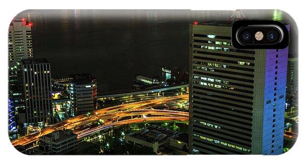 Odaiba iPhone Case - Tokyo Bay Area Skyline by Benny Marty