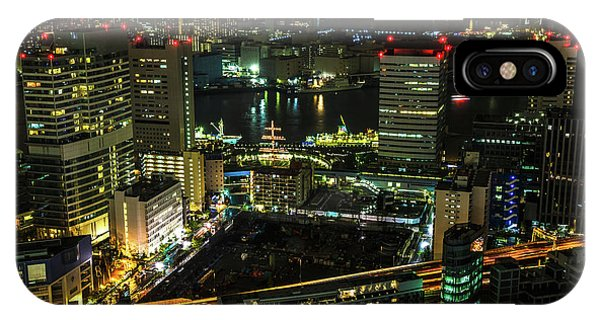 Odaiba iPhone Case - Tokyo Cityscape And Bay Area by Benny Marty