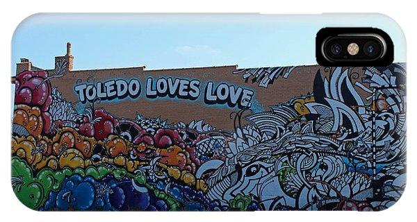 Toledo Loves Love IPhone Case