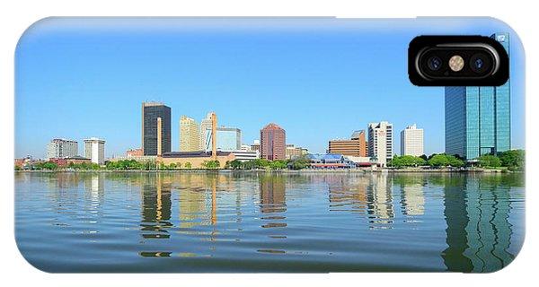 D12u-673 Toledo Ohio Skyline Photo IPhone Case
