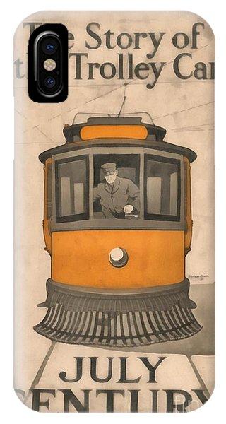 Trolley Car iPhone Case - Tolley Car Vintage by Edward Fielding