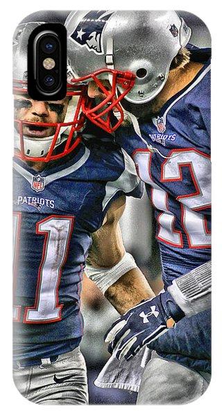 Players iPhone Case - Tom Brady Art 1 by Joe Hamilton