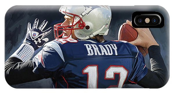 Tom Brady Artwork IPhone Case