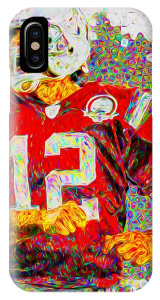 Tom Brady New England Patriots Football Nfl Painting Digitally IPhone Case