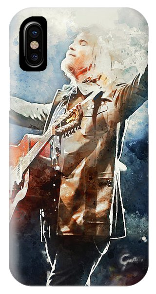 Tom Petty - Watercolor Portrait 13 IPhone Case
