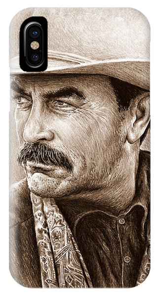 Tom Selleck The Western Collection IPhone Case