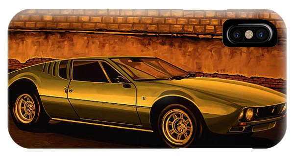 Oldtimer iPhone Case - Tomaso Mangusta Mixed Media by Paul Meijering