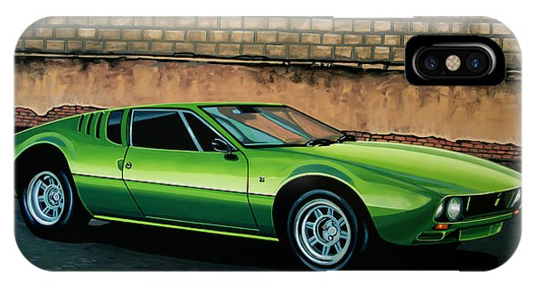 Car iPhone Case - Tomaso Mangusta 1967 Painting by Paul Meijering