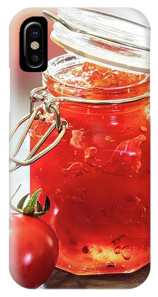 Red Fruit iPhone Case - Tomato Jam In Glass Jar by Johan Swanepoel