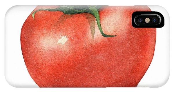 Tomato Watercolor IPhone Case