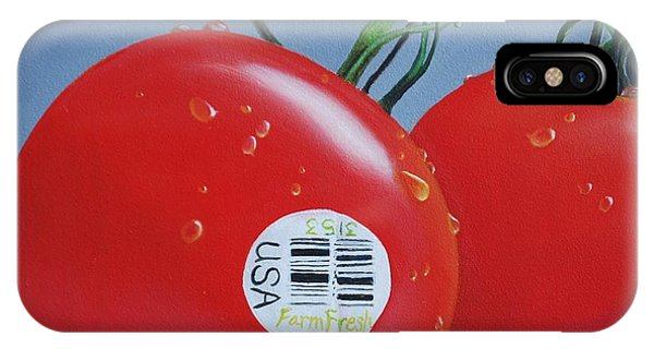 Tomatoes With Sticker IPhone Case