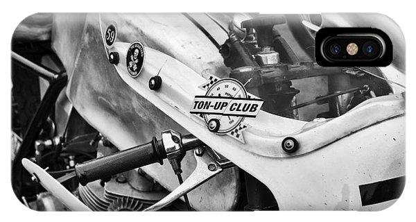 Culture Club iPhone Case - Ton Up Club Monochrome by Tim Gainey