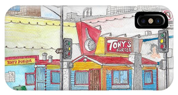 Tony Burger, Downtown Los Angeles, California IPhone Case