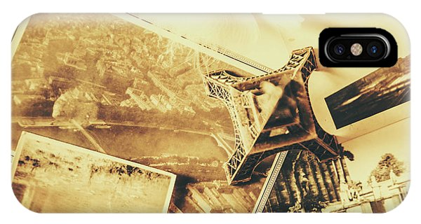 Paris iPhone Case - Toned Image Of Eiffel Tower And Photographs On Table by Jorgo Photography - Wall Art Gallery