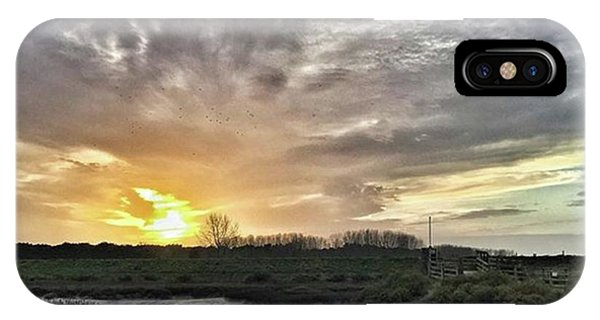 Sky iPhone Case - Tonight's Sunset From Thornham by John Edwards