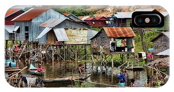 Tonle Sap Boat Village Cambodia IPhone Case