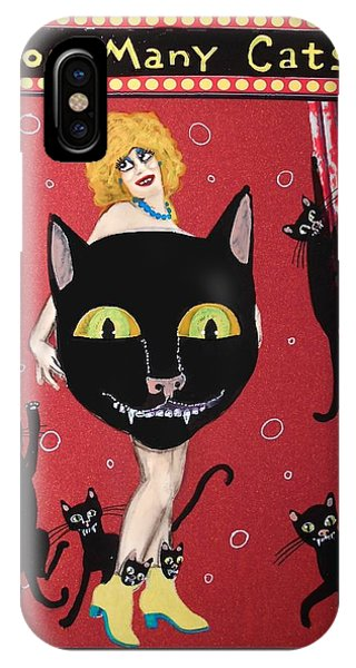 Too Many Black Cats IPhone Case
