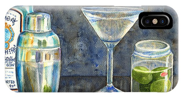 Martini iPhone Case - Too Many Doubles by Karen Fleschler