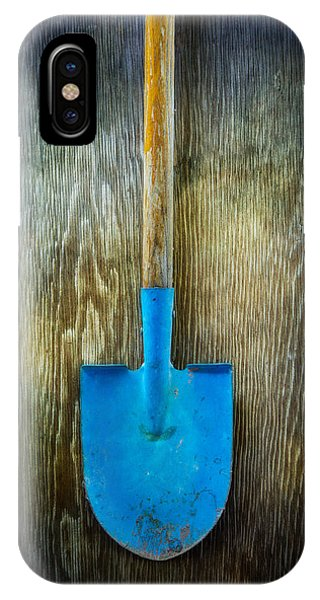 Garden iPhone X Case - Tools On Wood 23 by Yo Pedro