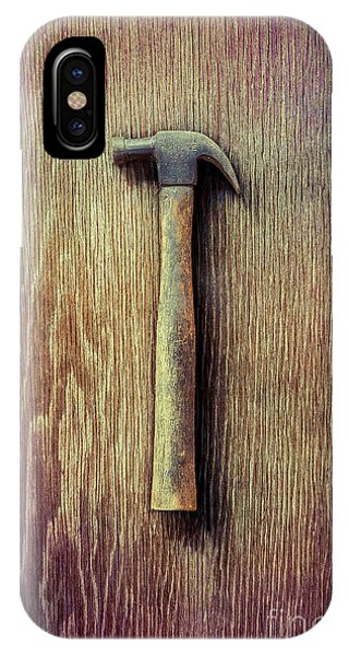 Metal iPhone Case - Tools On Wood 53 by YoPedro