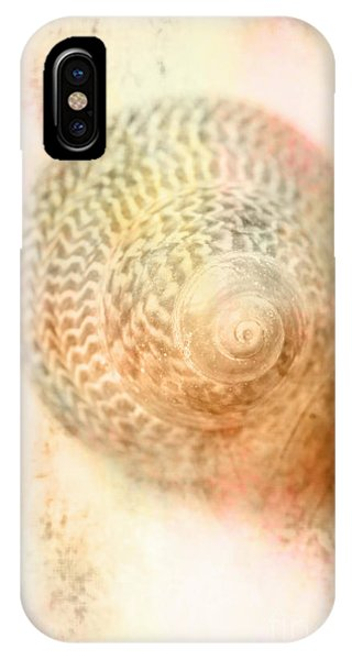 Monotone iPhone Case - Top Down View Of Spiral Sea Shell by Jorgo Photography - Wall Art Gallery