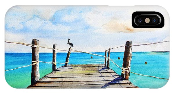 Top Of Old Pier On Playa Paraiso IPhone Case