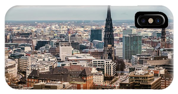 Top View Of Hamburg IPhone Case