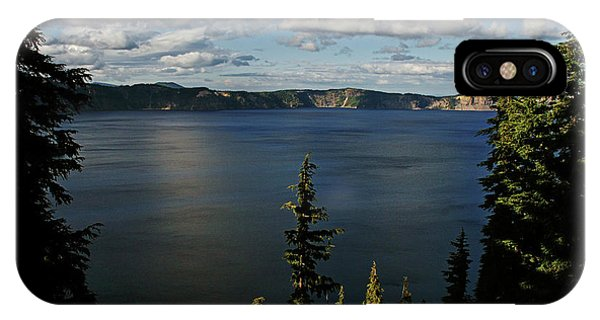 Indian Peaks Wilderness iPhone Case - Top Wow Spot - Crater Lake In Crater Lake National Park Oregon by Christine Till