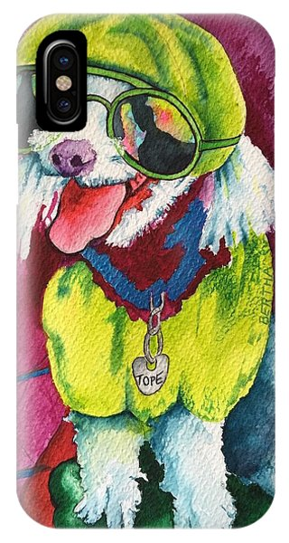 IPhone Case featuring the painting Tope  by Karen bertha Calderon