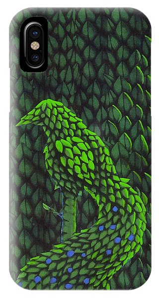 Topiary Peacock IPhone Case