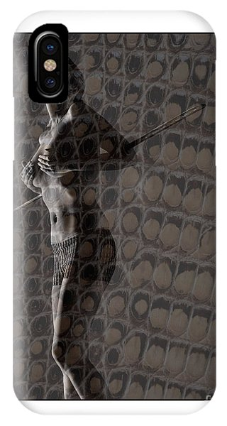 Topless Girl With African Spear IPhone Case