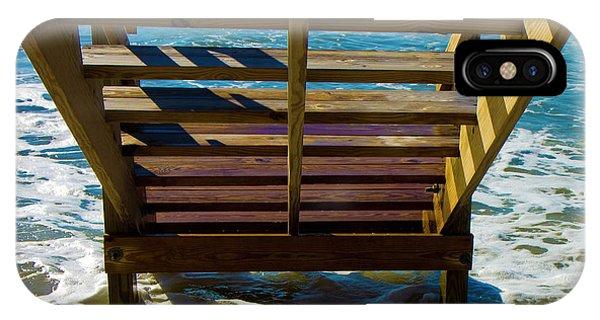 Tidal iPhone Case - Topsail Island Ocean Steps by Betsy Knapp