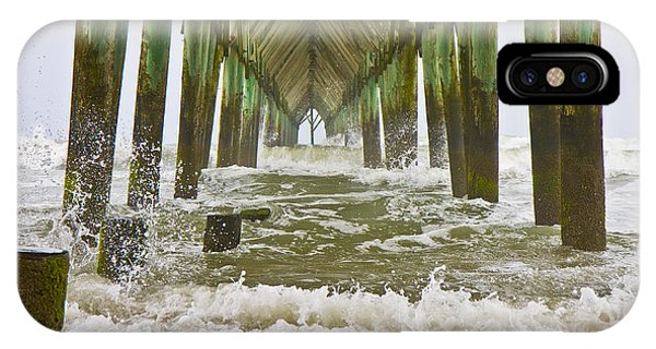 Topsail Island Pier IPhone Case