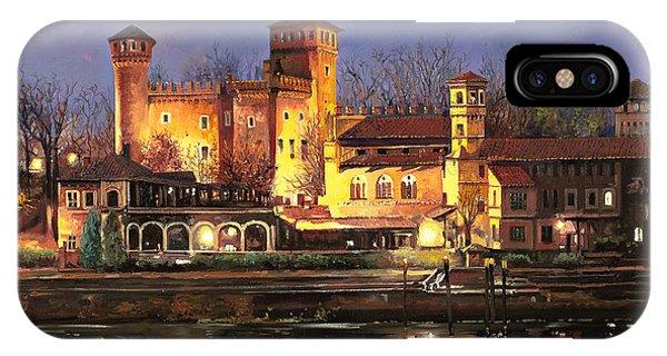 Twilight iPhone Case - Torino-il Borgo Medioevale Di Notte by Guido Borelli