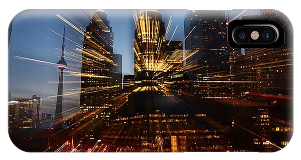 Toronto Skyline Streaks IPhone Case