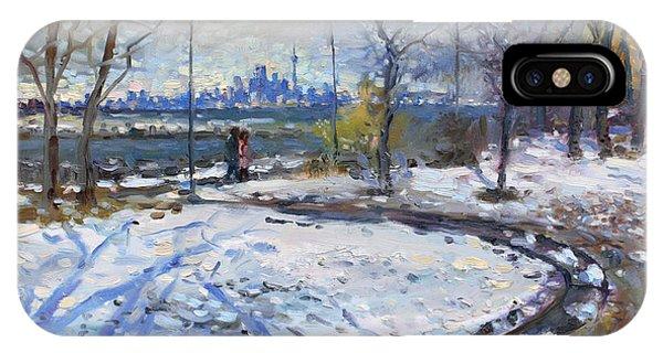 Lake iPhone Case - Toronto Skyline by Ylli Haruni