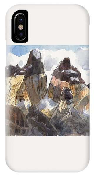 IPhone Case featuring the painting Torres Del Paine, Chile by Judith Kunzle