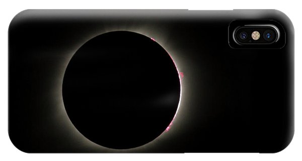 Total Eclipse Solar Flares IPhone Case