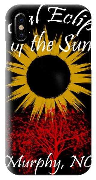 Andrew iPhone Case - Total Eclipse T-shirt Art Murphy Nc by Debra and Dave Vanderlaan