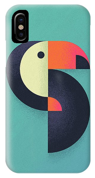 Toucan Geometric Airbrush Effect IPhone Case
