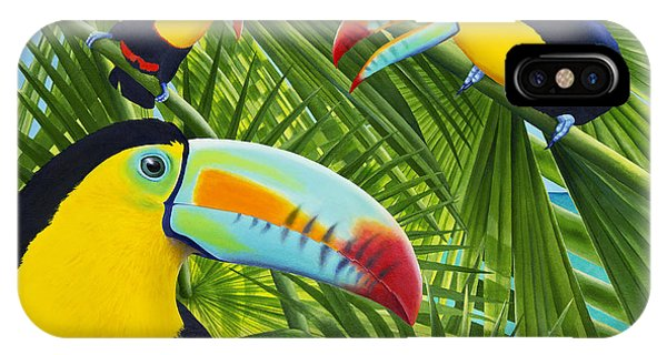 Toucan iPhone Case - Toucan Threesome by Carolyn Steele