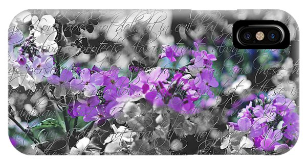 Touch Of Phlox IPhone Case