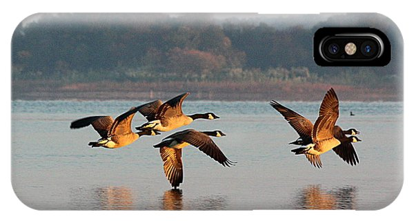 Touching Down At Sunrise IPhone Case