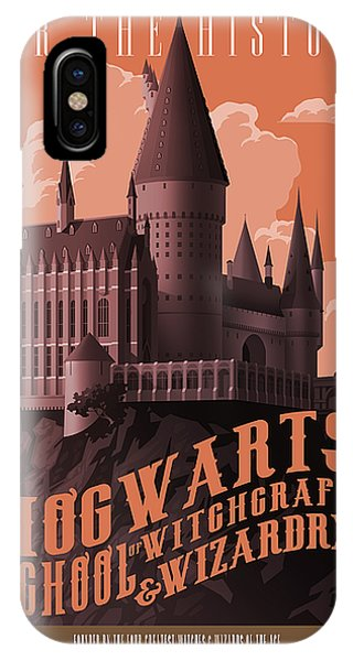 Wizard iPhone X / XS Case - Tour Hogwarts Castle by Christopher Ables