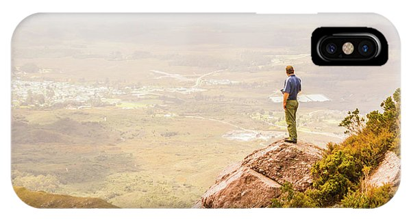 Rocky Mountain iPhone Case - Tourist On The Tip Of Western Tasmania by Jorgo Photography - Wall Art Gallery